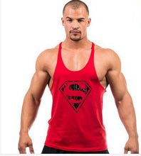 2017 Superman  Tops Cotton gyms Vest  Muscle Shirt Sleeveless Singlet Fitness Tank Top Men Bodybuilding clothing fitness men