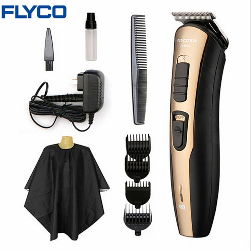 FLYCO professional  Hair Trimmer Professional Rechargeable  Clipper for Men or Baby Stainless Steel Hair Cutting Tools FC5803