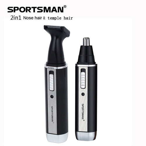 Facial Nose Hair Trimmer Electric Shaver Mechine Replace Head Clipper Temple Cutter Facial Person Care Men Tool 2 In 1 Trimmer