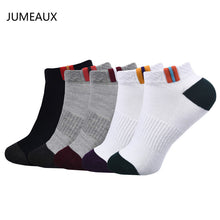 JUMEAUX 5 Pairs EU 35-45 High Quality Men Socks Cotton Bamboo Fiber Classic Breathable Mesh Mountain Socks for Men 2017 Hot Sale