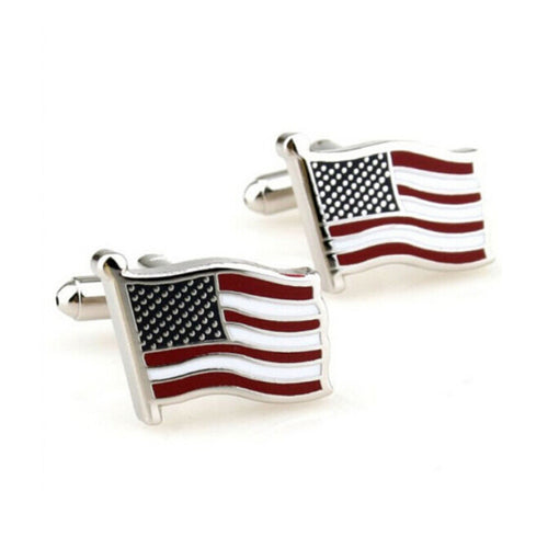 Cufflinks for Mens Luxury USA Flag Cufflink Wedding Party Gift Classical Cuff Link Biggest Promotion