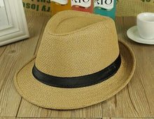 Free Shipping 2015 New Plain Color Panama Straw Hats Fedora Soft Vogue Men Women Stingy Brim Caps 6 Colors Choose