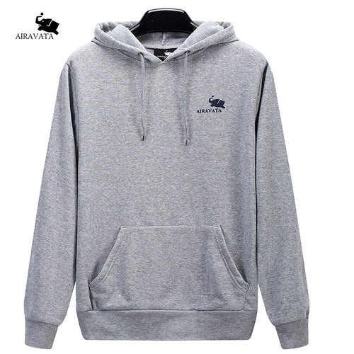 Men's Brand Casual Sportswear for Spring and Autumn Men Fashion Hooded Black Hoodie With Large Kangaroo Pocket Free Shipping