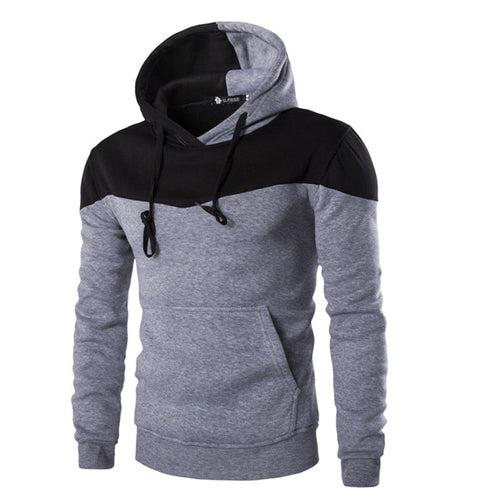 Patchwork Hoodied Sweatshirts Casual Spring Men Hoodies and Sweatshirts Fashion Slim Mens Sportswear Mens Long Sleeve Hoodies