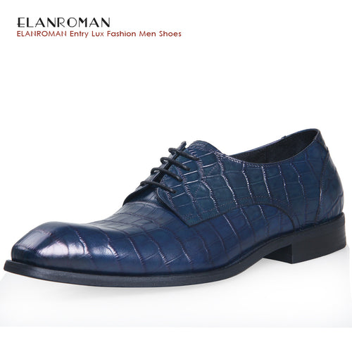 Fashion Italian designer formal mens dress shoes cow leather luxury wedding  crocodile shoes men flats office for male
