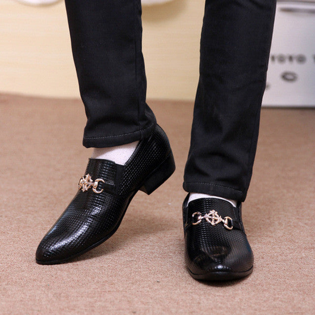 2017 New Fashion Italian Designer Formal Mens Dress Shoes Genuine Leather Black Luxury Wedding Shoes Men Flats Office No3285-328