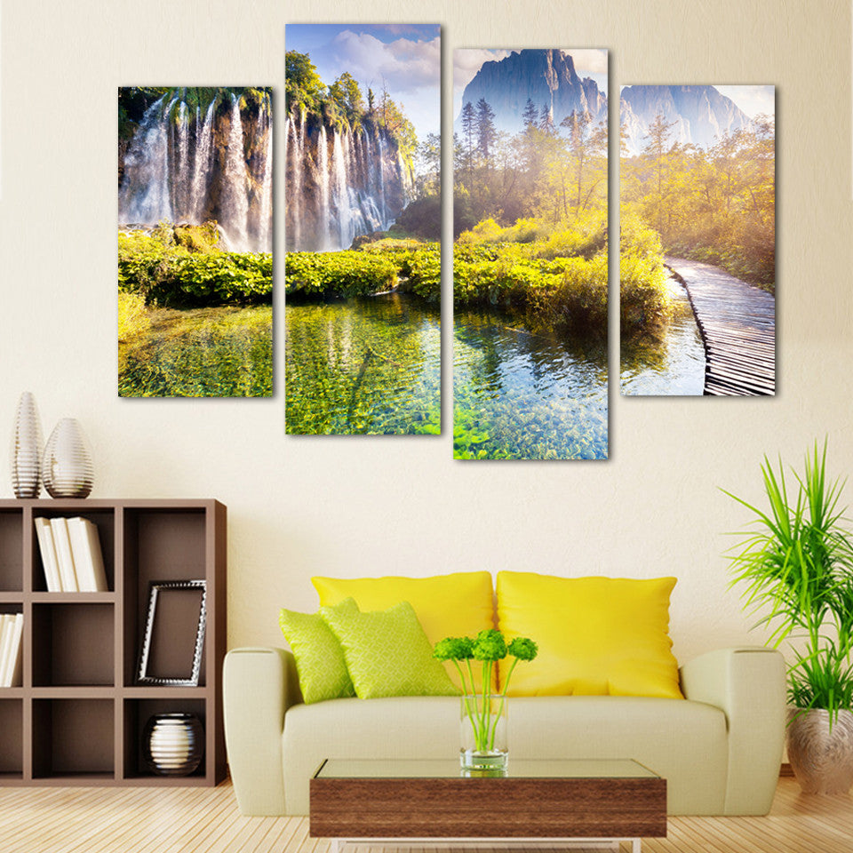 Free shipping Mountains-and-waters painting Print On Canvas HD Large Pictures Wall Art Cuadros For Living Room Poster Printings