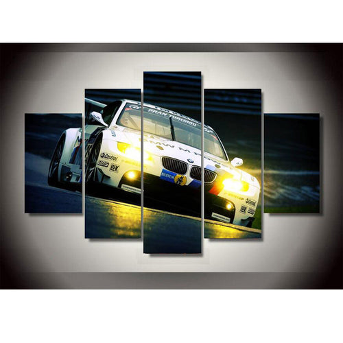 New Style BMW Spuer Sports Car Oil Painting Wall Art Paintings Home Decoration Poster Printing On Canvas Unframed