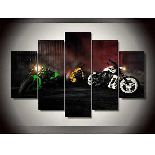 5 Plane Spuer Cool Motorcycle Style Oil Painting Wall Art Paintings Home Decoration Poster Printing On Canvas Unframed