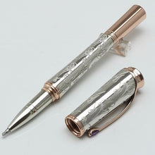 Grace of Monaco silver Pattern Engraved ballpoint pen / roller ball pen school Office Stationery luxury mb pen gift wholesale