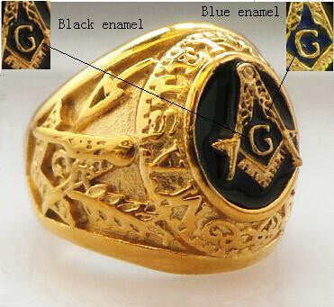 Stainless steel freemason ring wholesalering Men Gold Masonic ring Steel soldier New Design Masonic Ring For Man Stainless Steel