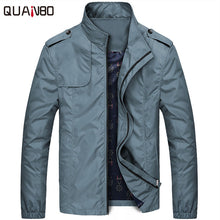QUANBO Spring Thin Fashion Brand Jacket Men Clothes 2017 New Solid College Slim Fit Casual Mens Jackets and Coats Veste homme