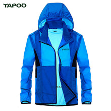 TAPOO 2017 Summer Spring Mens Jackets and coats Windbreaker Sunscreen Jackets Men Military Hooded Waterproof Jacket Army Green
