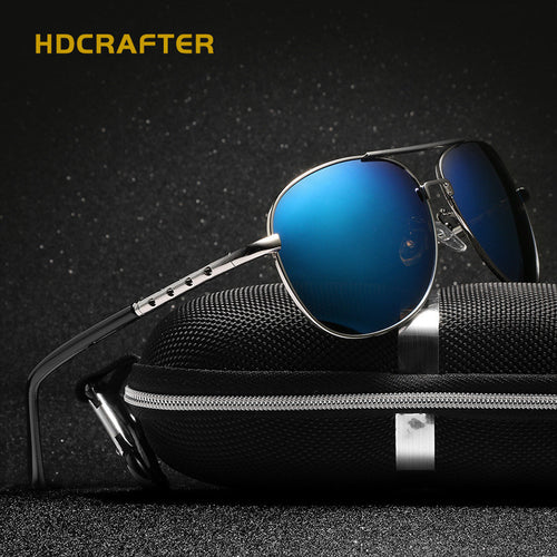 HDCRAFTER Classic Sunglasses Men Coating Shades Brand Design Eyeglasses Hight-grade Sun Glasses lunettes de soleil gafas de sol