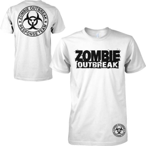 Zombie Apocalypse First Responders T Shirt men two sides funny printed design  t shirt US plus size S-3XL