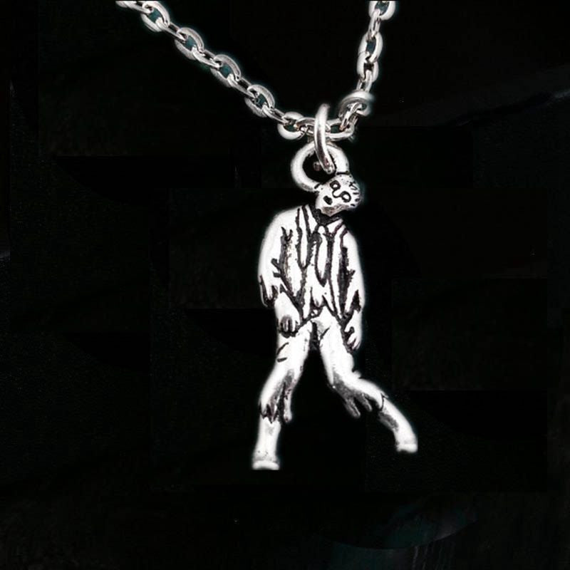 12pcs/lot Zombie Necklace Zombie Jewelry Zombie Charm Necklace Apocalypse Necklace