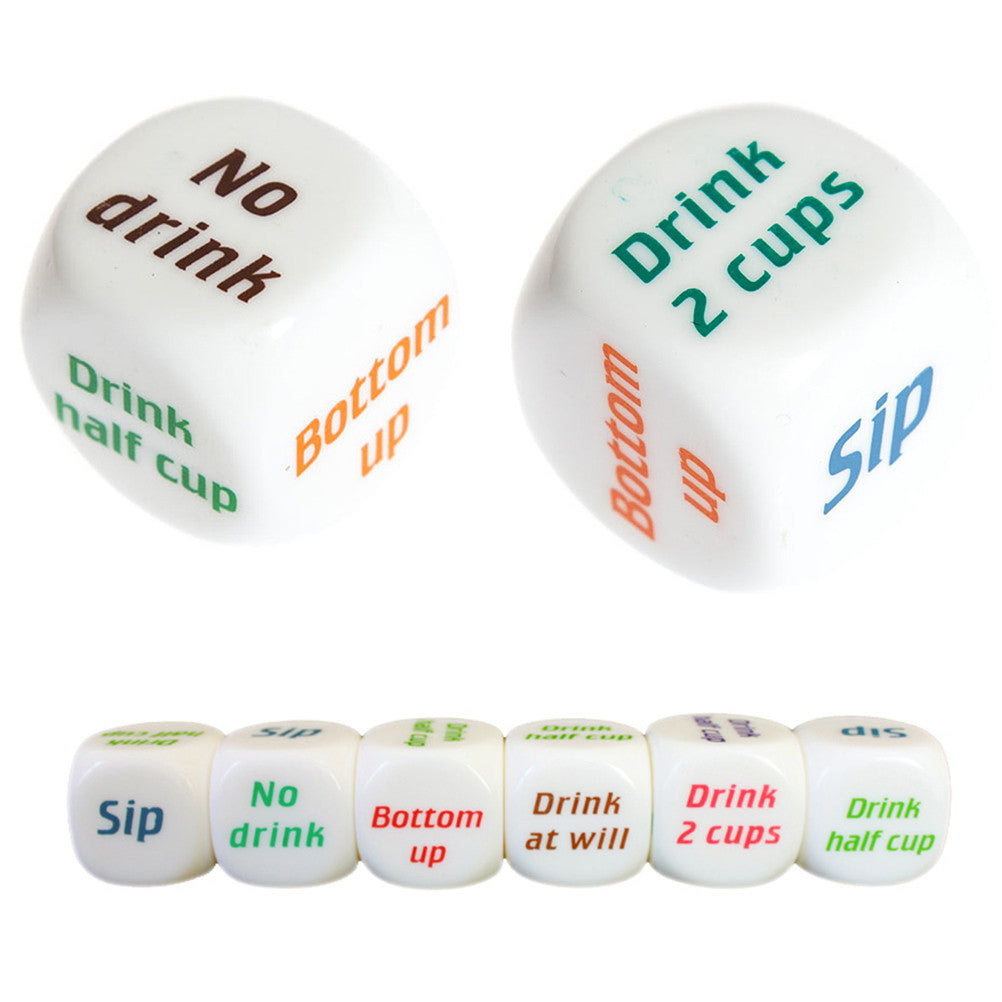 Hot Sale 1pc Drinking Wine Mora English Dice Games Gambling Adult Sex Game Lovers Bar Party Pub Drink Decider Fun Toy