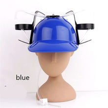 Creative funny Beer Soda Cool Unique Party Bar Game Hat Straw Drinking Cap Guzzler Helmet for lazy guy Adjustable
