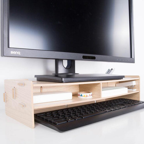 DIY Computer Keyboard Stationery Holder Wooden Creative Office School Supplies Desk Accessories Organizer Stationery Holder