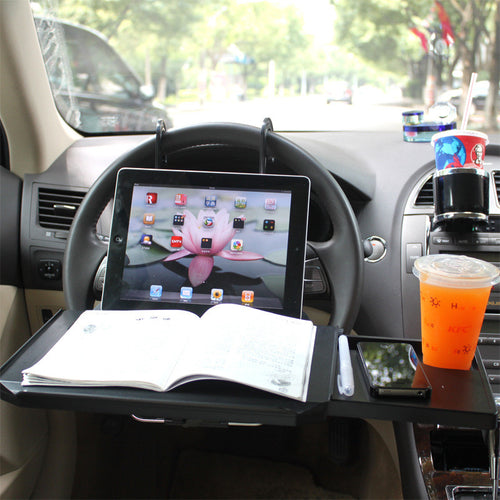Car Tablet Stand Multifunctional Cup Holder Drawer Type Panel Computer Desk Automobiles Accessories Interior Supplies Products
