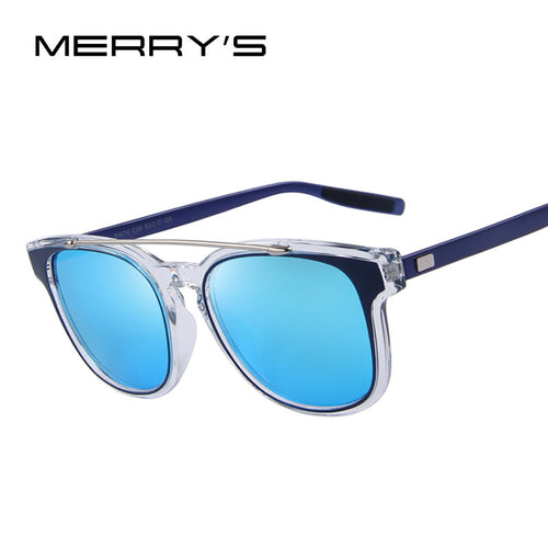 MERRY'S Fashion Women Double-Bridge Sunglasses Men Classic Shades Brand Designer Sun glasses UV400