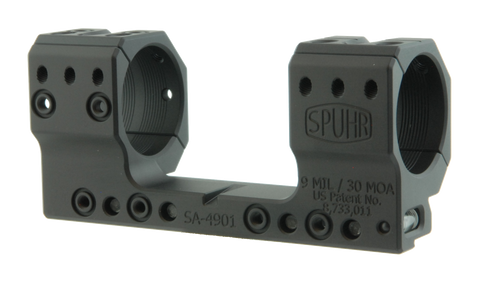 "SPUHR SA-4901 Scope Mount Ø34 H35mm/1.378"" 9MIL AI"