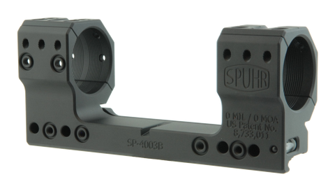 "SPUHR SP-4003B Scope Mount Ø34 H38mm/1.5"" 0MIL PIC"
