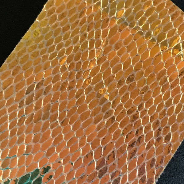 Gold Reflective Scales Fabric