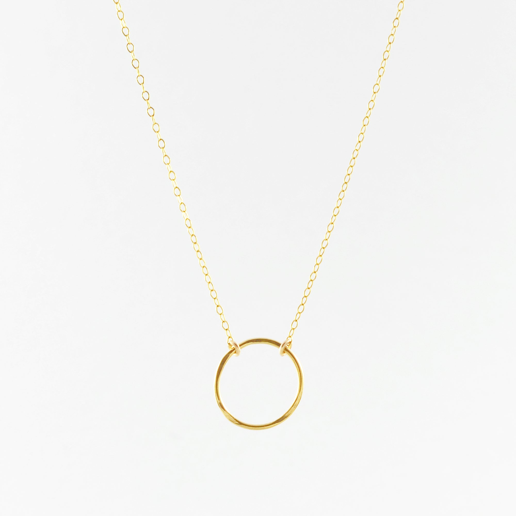 VOGUE Medium Eternity Circle Charm Necklace