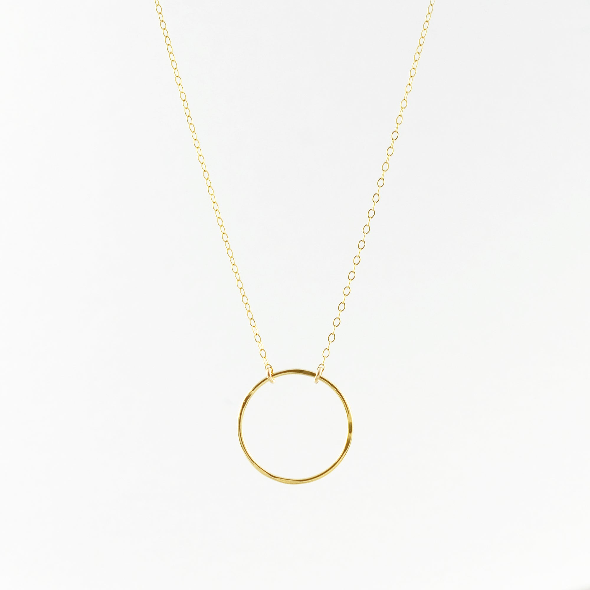 VOGUE Large Eternity Circle Charm Necklace