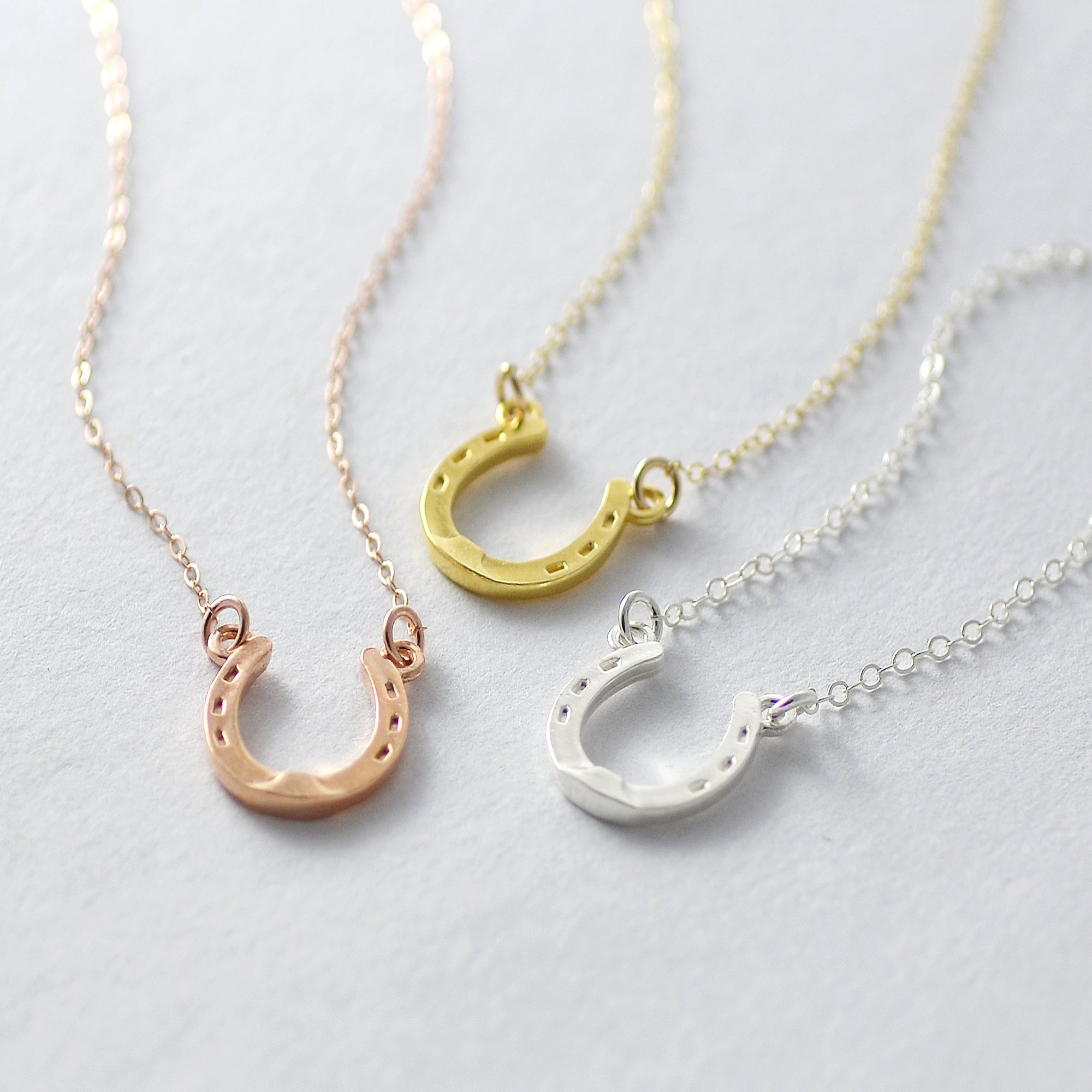LUCKY Horse Shoe Charm Necklace