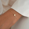 ROSA Dainty Hoop Star Charm Drop Earrings (Sterling Silver, Gold)