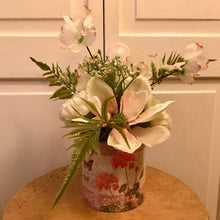 Vintage Decoupaged Can Arrangements - She Shed Home Decor