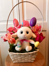 Easter Baskets with Plush Animals - She Shed Home Decor