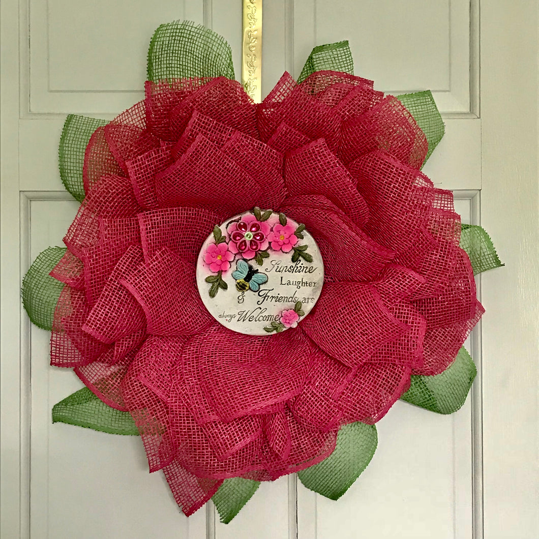 Sunflower Wreath with TileCenter - She Shed Home Decor