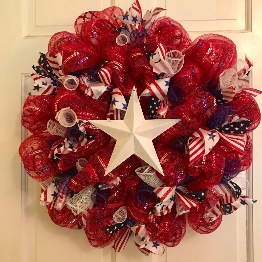Patriotic/Americana Wreaths - She Shed Home Decor