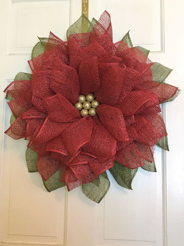 Christmas Wreaths, Poinsettia