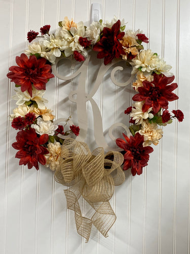 Custom Grapevine Letter Wreath