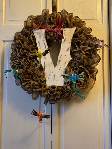 Custom Burlap Letter Wreath