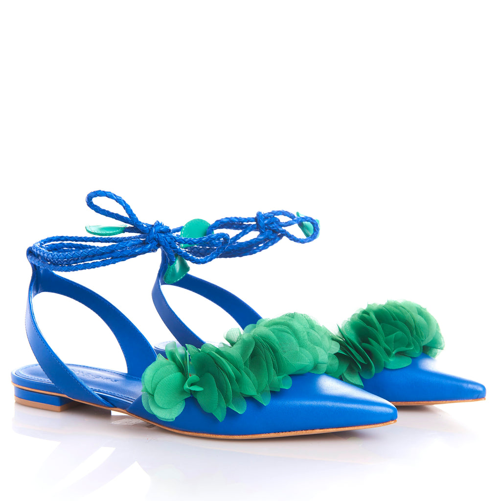 FRIDA ROYAL BLUE  Leather handmade Sandals