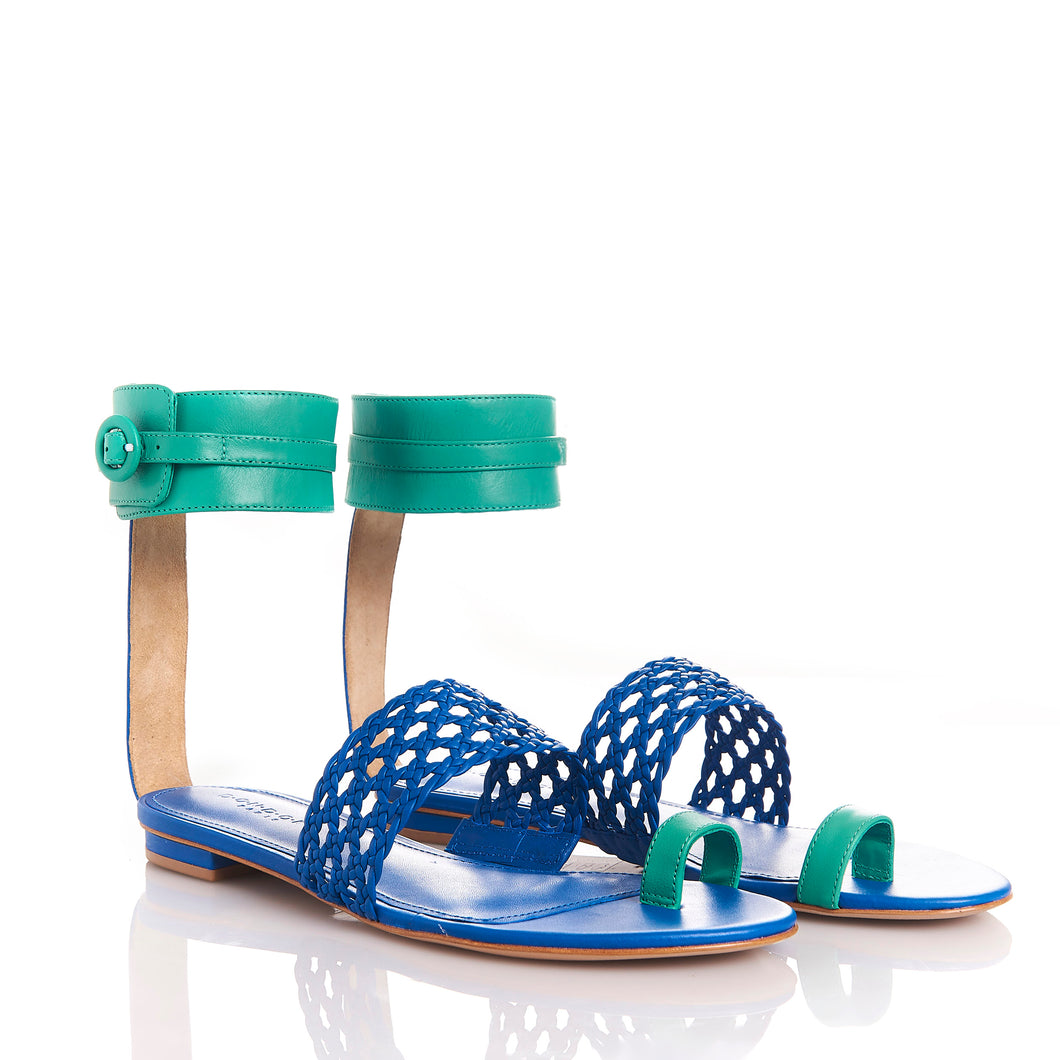 LETY BLUE/ESMERALD - Sandals