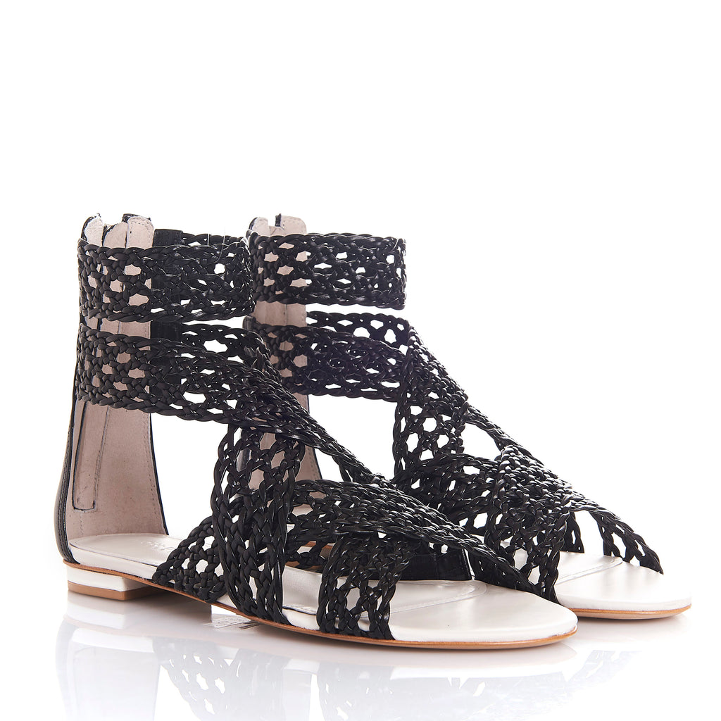 MELY WHITE/BLACK - Sandals