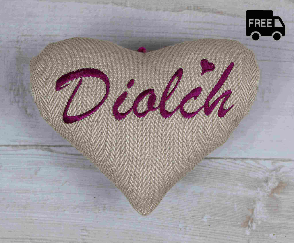 Diolch Heart / Thank You Heart (Pink)