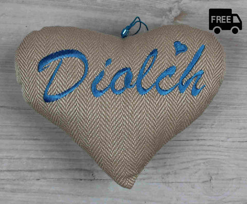 Diolch Heart / Thank You Heart (Blue)