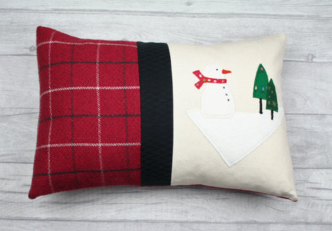 Christmas Cushion, Christmas Pillow, Christmas Snowman Cushion