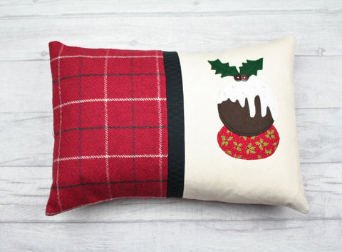 Christmas Cushion, Christmas Pillow, Christmas Pudding Cushion