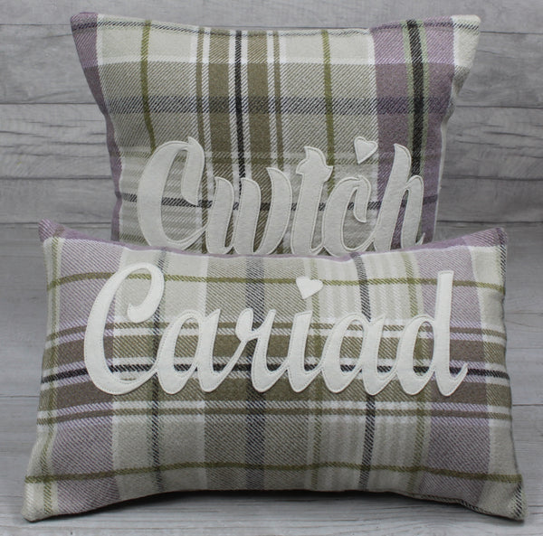 Tartan Cwtch Cushion / Cwtsh Cushion