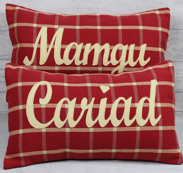 Tartan Mamgu Cushion / Grandmother Cushion