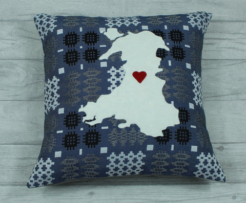 Map of Wales Cushion