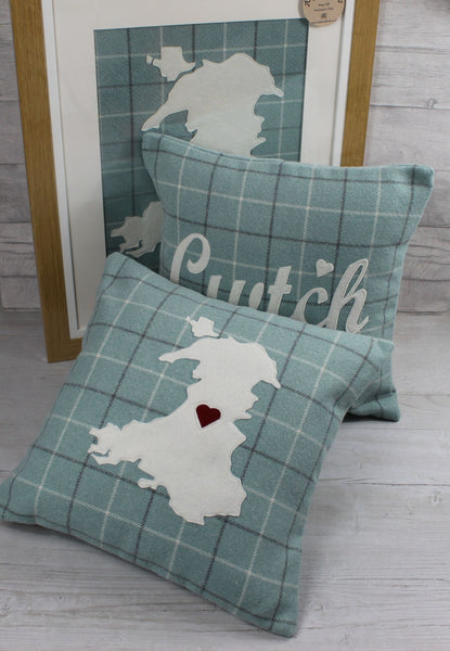 Map of Wales Frame / Cymru Frame (Duck Egg Blue)